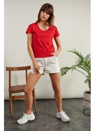 Levure Pamuklu T-Shirt  Kırmızı